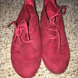 EUC Xappeal Red Ankle Boots Shoes 6